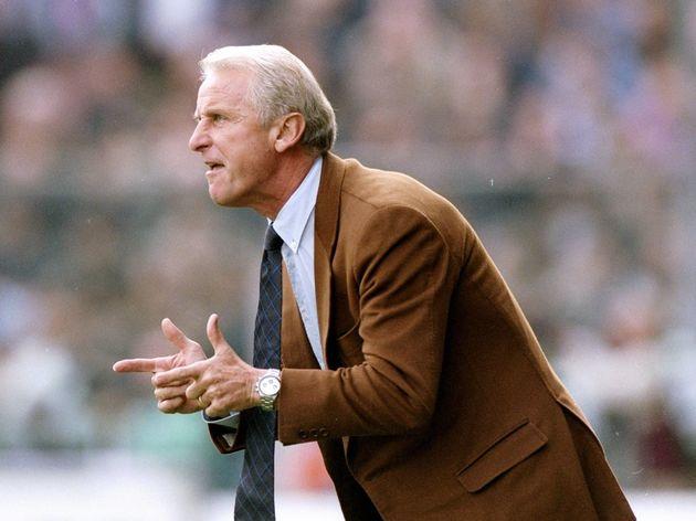 The Fiorentina manager Giovanni Trapattoni...