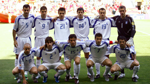 The Greek national football team members