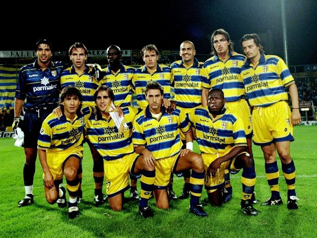 The Parma team pose for a group shot