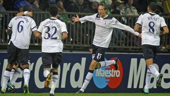 Tottenham Hotspurs' forward Peter Crouch