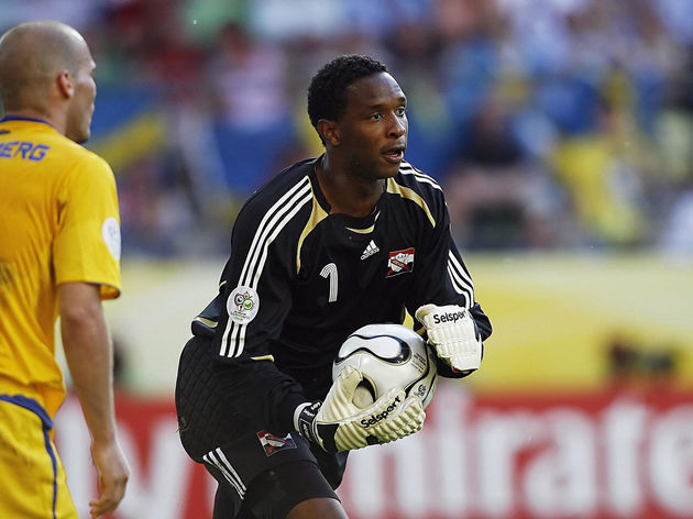 Trinidad and Tobago's goalkeeper Shaka H