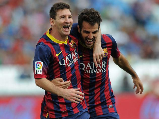 Cesc Fabregas,Lionel Messi