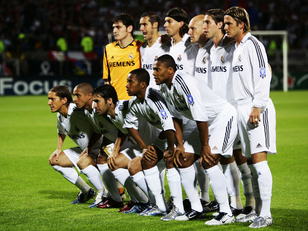 Real Madrid team line up