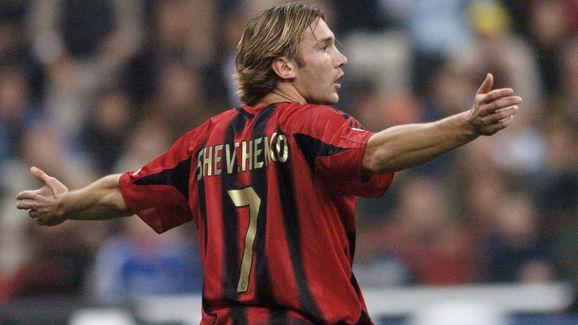 Ukraine striker Andrij Shevchenko of AC