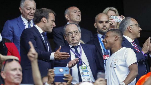 Emmanuel Macron,Noel Le Graet,Kylian Mbappe