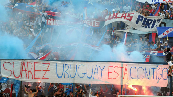 Uruguayan Nacional's fans cheer in suppo
