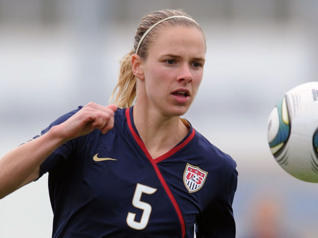 USA's Lindsay Tarpley eyes the ball duri