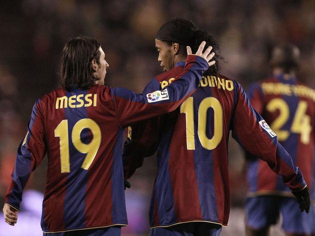 Ronaldinho,Lionel Messi