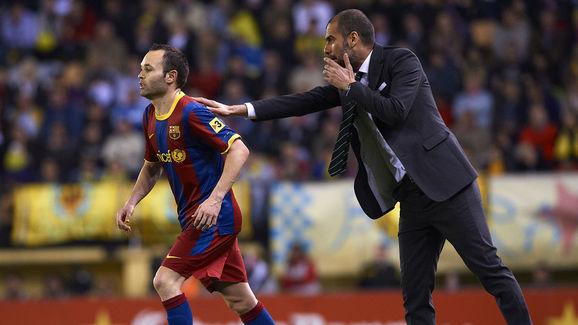 Andres Iniesta,Josep Guardiola