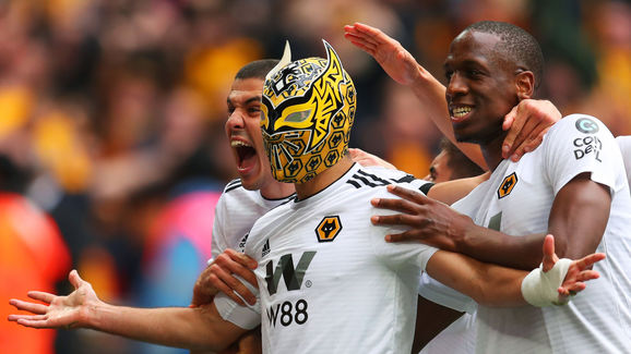 Raul Jimenez,Heurelho Gomes,Romain Saiss,Conor Coady,Willy Boly