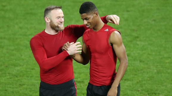 Wayne Rooney,Marcus Rashford