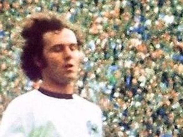 West German goalkeeper Sepp Maier catches the ball