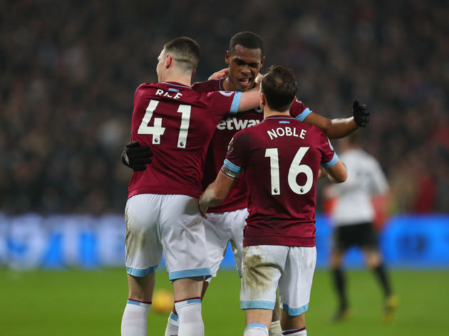 Issa Diop,Declan Rice,Mark Noble