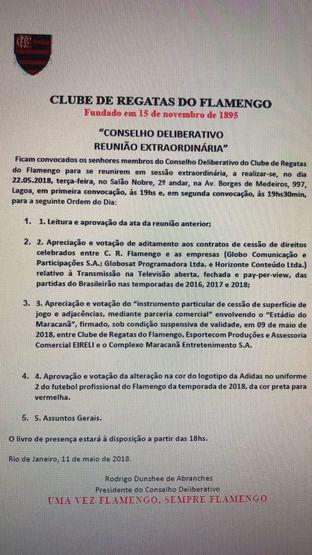18961037a61 Conselho Deliberativo define data para aprovar contrato do Flamengo com  Maracanã S A