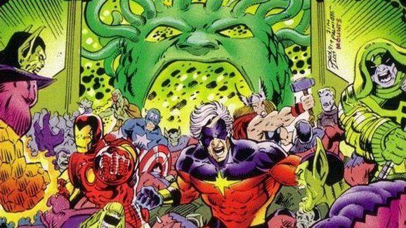 Kree-Skrull War Comic art