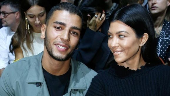 Younes and Kourtney at a Paris fashion show