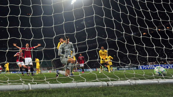 AC Milan's Swedish forward Zlatan Ibrahi
