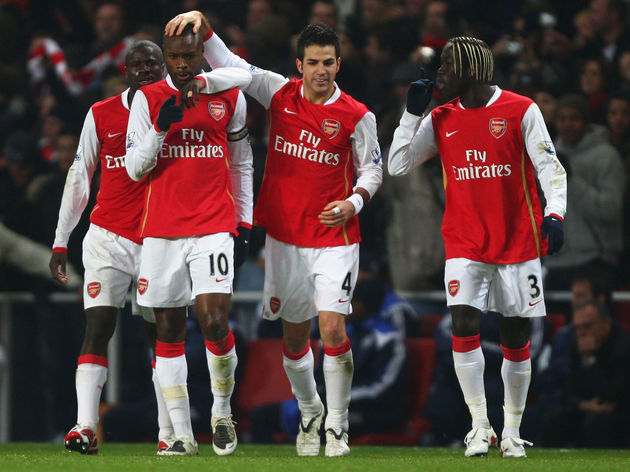 William Gallas,Emmanuel Eboue,Francesc Fabregas,Bacary Sagna