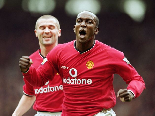 Dwight Yorke and Roy Keane