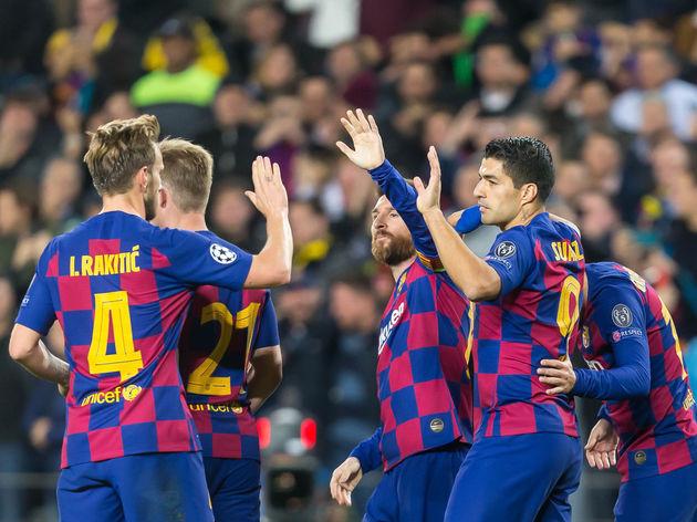 Ivan Rakitic,Lionel Messi,Luis Suarez,Antoine Griezmann