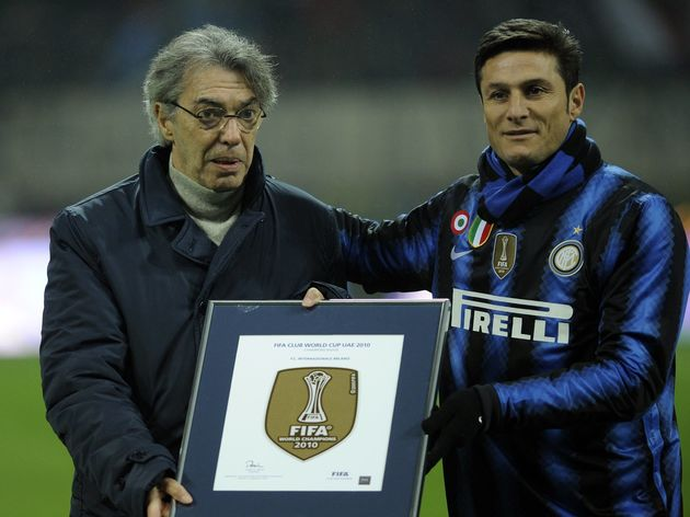 Inter Milan's president Massimo Moratti